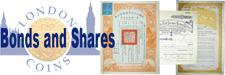 Bonds and Shares : Covers bonds and shares with dedicated sections for UK and World issues.