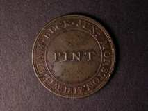 London Coins : A122 : Lot 1017 : Pint Token 1817 Norfolk Morston Obverse WILLIAM. BUCK. JUNr. MORSTON.1817 around PINT in centre,...