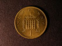 London Coins : A122 : Lot 1104 : Decimal One Penny 1971 mis-struck in Brass EF with a few light tone spots, very rare with only 2...