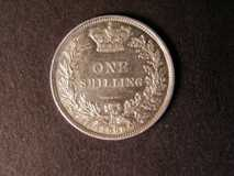 London Coins : A122 : Lot 1792 : Shilling 1868 Die No. 31 bright EF