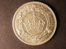 London Coins : A124 : Lot 200 : Crown 1929 ESC 369 Lustrous UNC with a small tone spot on the reverse rim