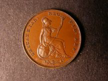 London Coins : A124 : Lot 270 : Farthing 1853 Bronzed Proof with reverse inverted Peck 1576 nFDC