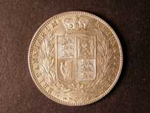London Coins : A124 : Lot 445 : Halfcrown 1876 ESC 699 GEF/AU with some light surface marks on the obverse
