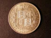 London Coins : A124 : Lot 458 : Halfcrown 1887 Young Head ESC 717 Lustrous UNC and most attractive, very difficult to find in th...