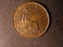London Coins : A124 : Lot 579 : Halfpenny 1874 Freeman 317 dies 9+K NEF with lustre, Rare