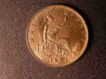 London Coins : A124 : Lot 581 : Halfpenny 1874H Freeman 319 dies 10+J Bronze Proof nFDC retaining almost full mint lustre