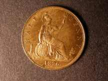 London Coins : A124 : Lot 585 : Halfpenny 1876H Bronze Proof Freeman 329A lustrous aFDC small dark tone patch below date