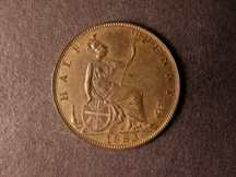 London Coins : A124 : Lot 604 : Halfpenny 1883 Freeman 351 dies 19+S UNC with about 20% lustre and scarce