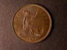 London Coins : A124 : Lot 695 : Penny 1861 Freeman 20 dies 2+G UNC toned, Very Rare, Ex-Laurie Bamford collection