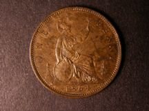 London Coins : A124 : Lot 702 : Penny 1864 Crosslet 4 Freeman 48 dies 6+G GEF with mottled toning, this date very difficult to l...