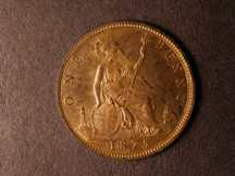 London Coins : A124 : Lot 736 : Penny 1875H Bronze Proof Freeman 86 dies 8+J UNC with some lustre