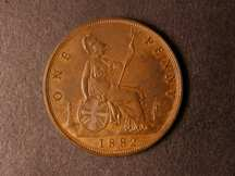 London Coins : A124 : Lot 754 : Penny 1882H Freeman 115 dies 12+N A/UNC with lustre traces