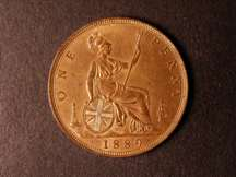 London Coins : A124 : Lot 768 : Penny 1889 Bronze Proof Freeman 129 dies 13+N nFDC with practically full lustre