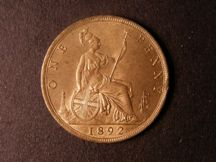 London Coins : A124 : Lot 775 : Penny 1892 Freeman 134 dies 12+N UNC with good lustre