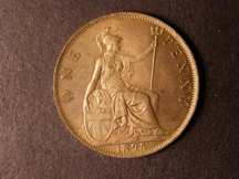 London Coins : A124 : Lot 781 : Penny 1895 Bronze Proof Freeman 142 dies 1+B Lustrous nFDC Very Rare rated R19 by Freeman