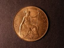 London Coins : A124 : Lot 808 : Penny 1907 Freeman 163 dies 1+C UNC with almost full lustre