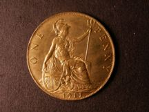 London Coins : A124 : Lot 815 : Penny 1911 Freeman 171 dies 1+A UNC with almost full lustre