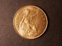 London Coins : A124 : Lot 823 : Penny 1917 Freeman 181 dies 2+B UNC with full lustre