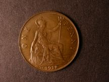 London Coins : A124 : Lot 830 : Penny 1918KN Freeman 184 dies 2+B EF with chocolate tone