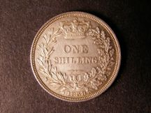 London Coins : A124 : Lot 853 : Shilling 1838 ESC 1278 EF/AU with a few small spots on the obverse