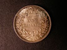 London Coins : A124 : Lot 868 : Shilling 1856 ESC 1304 UNC and beautifully toned formerly in an NGC holder and graded MS65 Ex-London...
