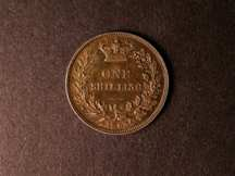 London Coins : A124 : Lot 872 : Shilling 1863 3 over 1 ESC 1311A rated R4 by ESC EF deeply toned