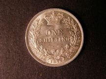 London Coins : A124 : Lot 885 : Shilling 1876 ESC 1328 Die Number 4 GEF scarce