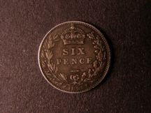London Coins : A124 : Lot 951 : Sixpence 1893 Jubilee Head ESC 1761 very rare type, VF with dark tone