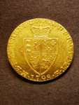 London Coins : A125 : Lot 1021 : Guinea 1798 S.3729 lustrous EF with a small scratch in front of the bust