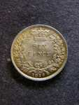 London Coins : A125 : Lot 1087 : Sixpence 1866 ESC 1715 Die Number 40 EF