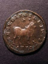 London Coins : A125 : Lot 651 : Julian II Ae 1, R. bull standing right, two stars above. Antioch mint. Very fine.