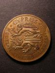 London Coins : A125 : Lot 873 : Cyprus pattern 1937 45 Piastres having a stylised and?unique bare head of Edward VIII?showing somewh...