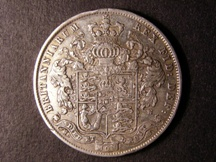 London Coins : A126 : Lot 1175 : Halfcrown 1825 ESC 642 NVF with a couple of edge nicks