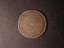 London Coins : A126 : Lot 1438 : Sixpence 1687 Later Shields ESC 1526B Good Fine