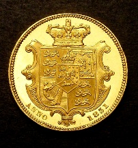 London Coins : A126 : Lot 1492 : Sovereign 1831 Proof S.3829 nFDC with one small rim nick, the obverse with some hairlines, r...