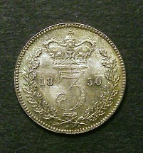 London Coins : A126 : Lot 1563 : Threepence 1850 ESC 2058 GEF and nicely toned