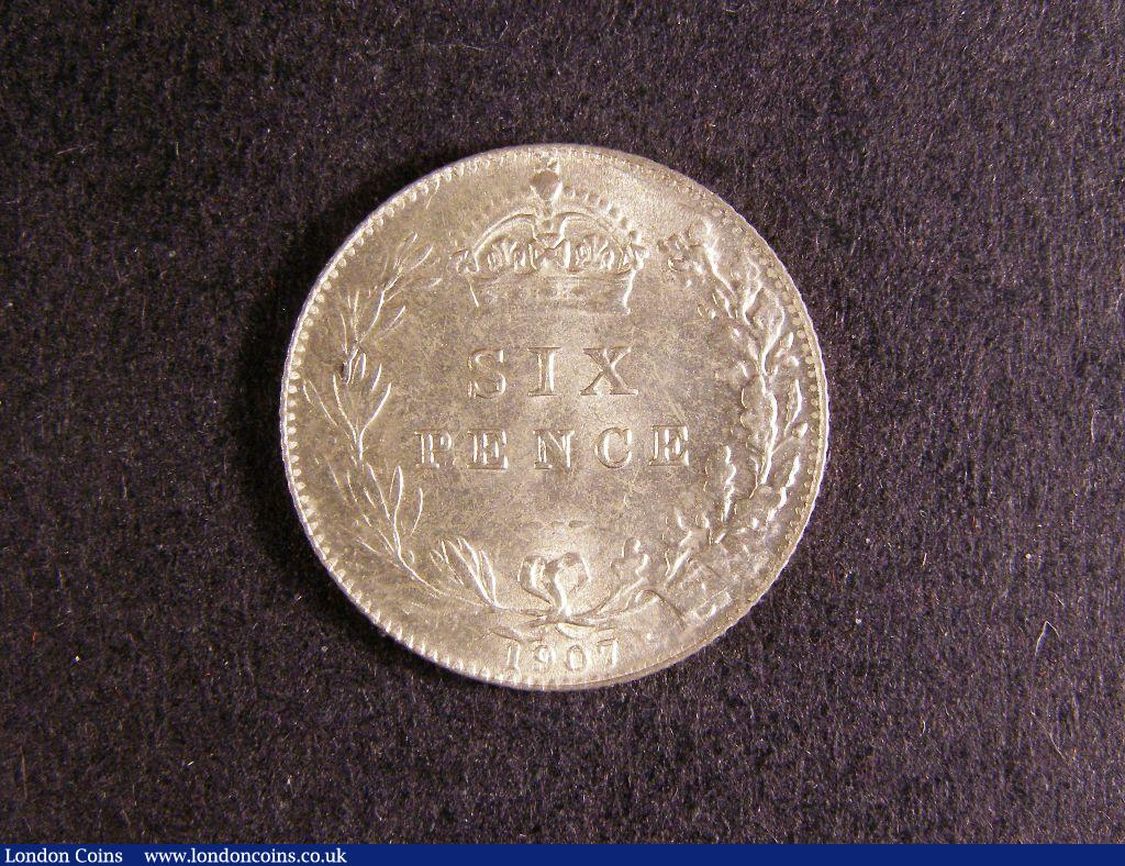 Sixpence 1907 ESC 1791 UNC with some light surface marks : English Coins : Auction 127 : Lot 1877