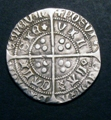 London Coins : A129 : Lot 1059 : Groat Henry VI Rosette-Mascle issue Calais Mint S.1859 VF