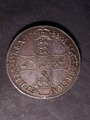 London Coins : A129 : Lot 1144 : Crown 1688 8 over 7 ESC 81 GVF/NEF with some light haymarking