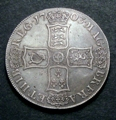 London Coins : A129 : Lot 1153 : Crown 1703 VIGO TERTIO edge ESC 99 VF with an even grey tone