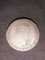London Coins : A129 : Lot 1397 : Halfcrown 1689 First Shield Caul and Interior frosted, pearls ESC 503 VG