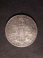 London Coins : A129 : Lot 1416 : Halfcrown 1710 Roses and Plumes ESC 581 Good Fine with light haymarking