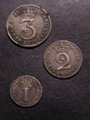 London Coins : A129 : Lot 1574 : Maundy a 3-part set 1766 comprising Threepence, Twopence and Penny NVF-NEF