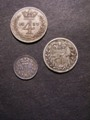 London Coins : A129 : Lot 1577 : Maundy a 3-part Set 1837 ESC 2444 Fourpence, Threepence and Penny NF-VF