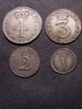 London Coins : A129 : Lot 1602 : Maundy Set 1746 ESC 2410 NEF-EF