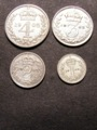 London Coins : A129 : Lot 1643 : Maundy Set 1902 ESC 2517 NEF-EF the Threepence possibly a currency issue