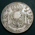 London Coins : A130 : Lot 1118 : Dollar George III Oval Countermark on a Chile 8 Reales of 1792 Santiago Mint ESC 134 VF, Very Ra...