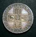 London Coins : A130 : Lot 1320 : Halfcrown 1708 SEPTIMO ESC 577 GEF or better