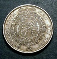 London Coins : A130 : Lot 1328 : Halfcrown 1817 Bull Head S over I in PENSE unlisted by ESC, Davies or Spink A/UNC with a small s...