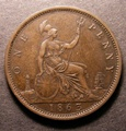 London Coins : A130 : Lot 1559 : Penny 1863 Open 3 in date unlisted by Freeman, Gouby 1863B, Satin 46, the variety confir...